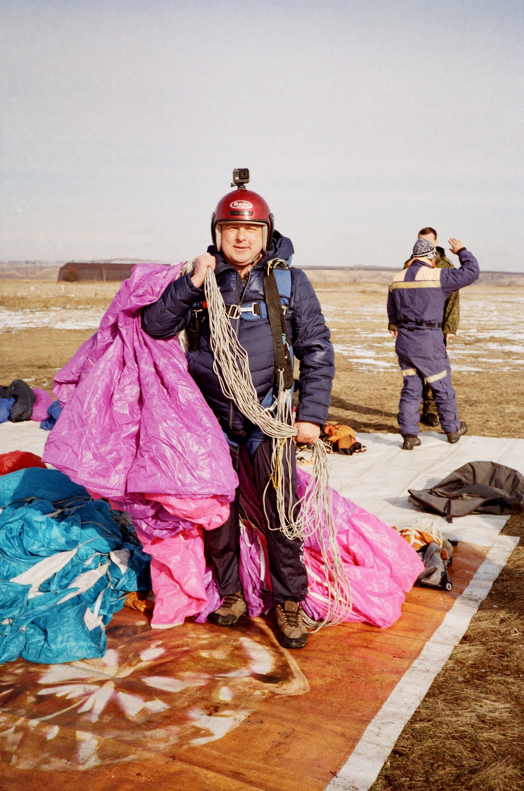 Красноярск Аэродром ДОСААФ Манский После 16-го прыжка.18.10.2015г