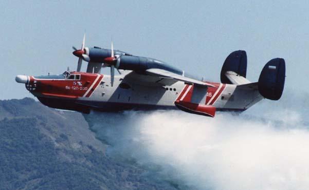 Самолёт-амфибия Георгия Михайловича Бериева Бе-12 Сброс воды