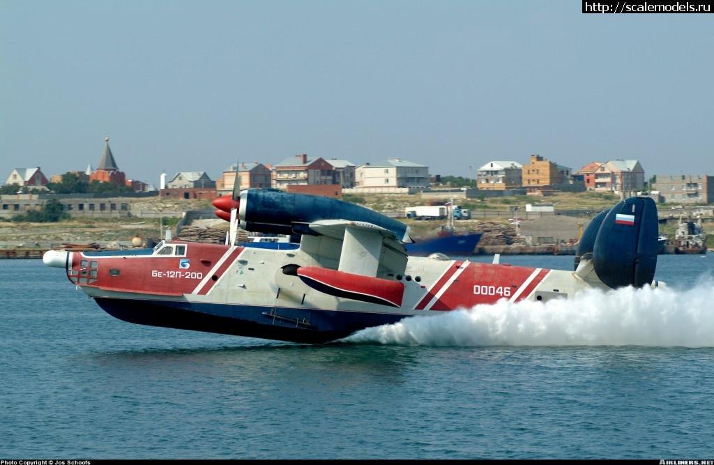 Самолёт-амфибия Георгия Михайловича Бериева Бе-12 на глиссирующем режиме