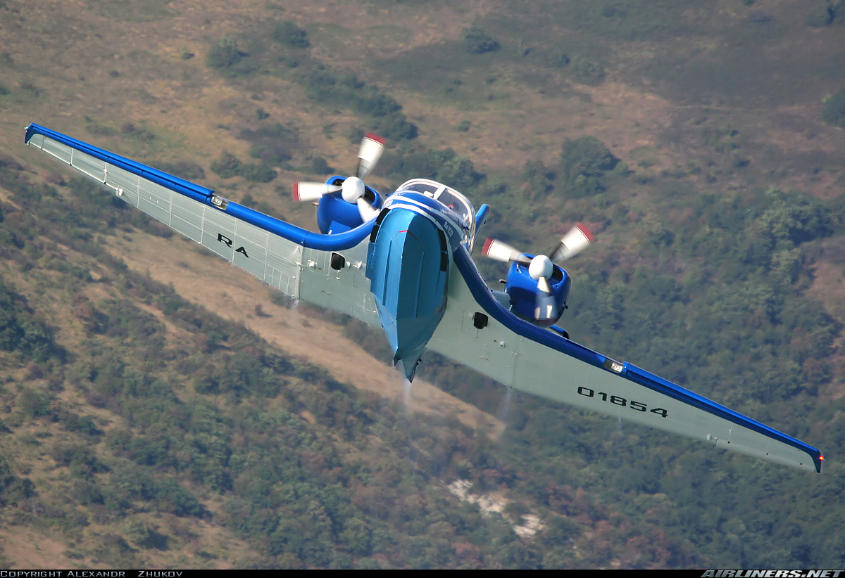 Самолёт-амфибия КБ Георгия Михайловича Бериева Бе-103 в полёте