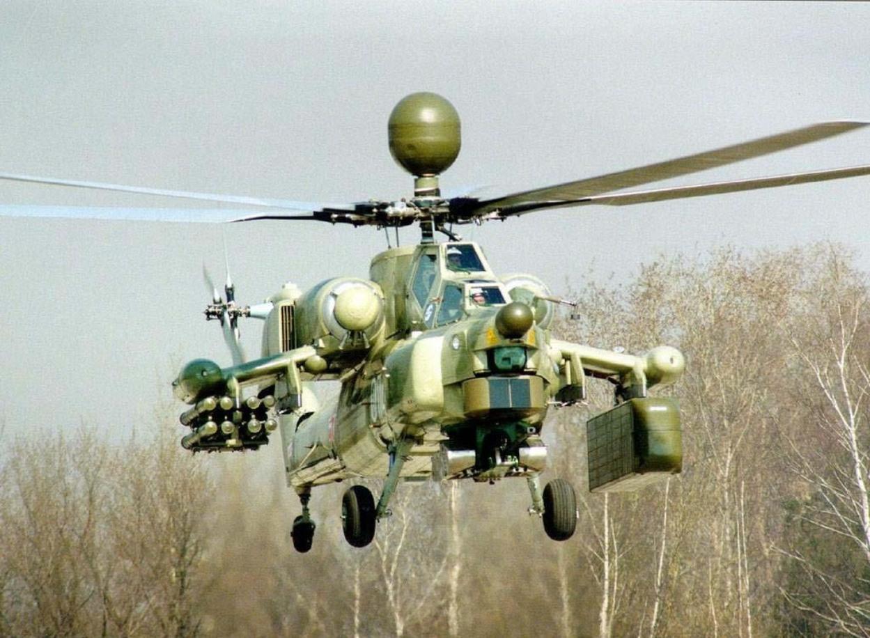 Вертолёт КБ Михаила Леонтьевича Миля Ми-28Н с вооружением