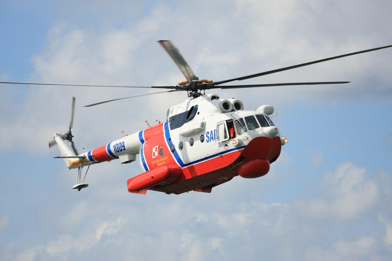 Вертолёт-амфибия КБ Михаила Леонтьевича Миля Ми-14 в полёте без шасси