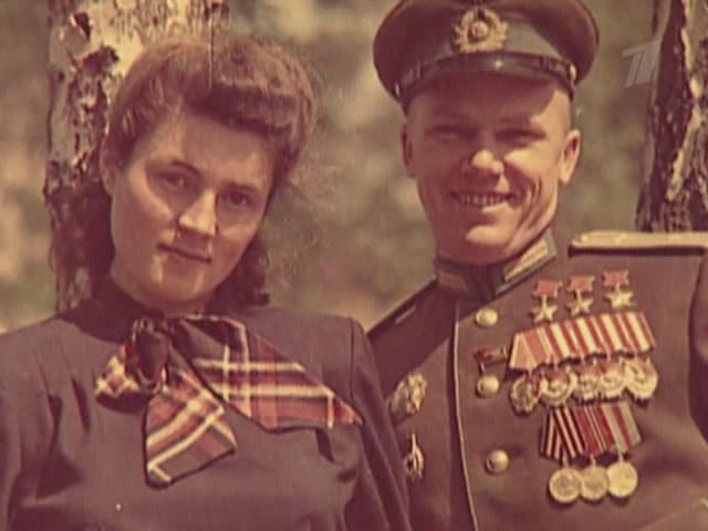 Иван Никитович Кожедуб с женой Вероникой Николаевной после Великой Отечественной войны