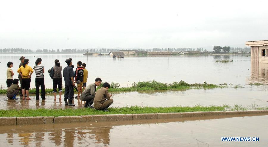 Такую картину можно увидеть в Корее после двухнедельных проливных дождей