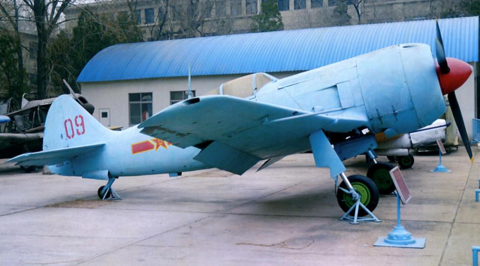 Истребитель Семёна Алексеевича Лавочкина Ла-11 в музее в Китае
