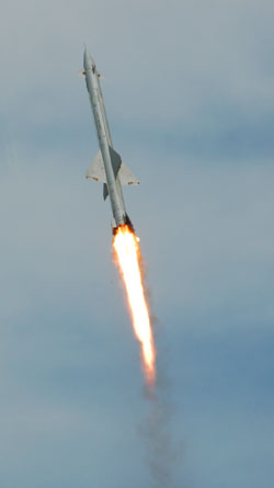 Зенитная ракета Семёна Алексеевича Лавочкина системы Беркут позже переименованная в С-25 в полёте