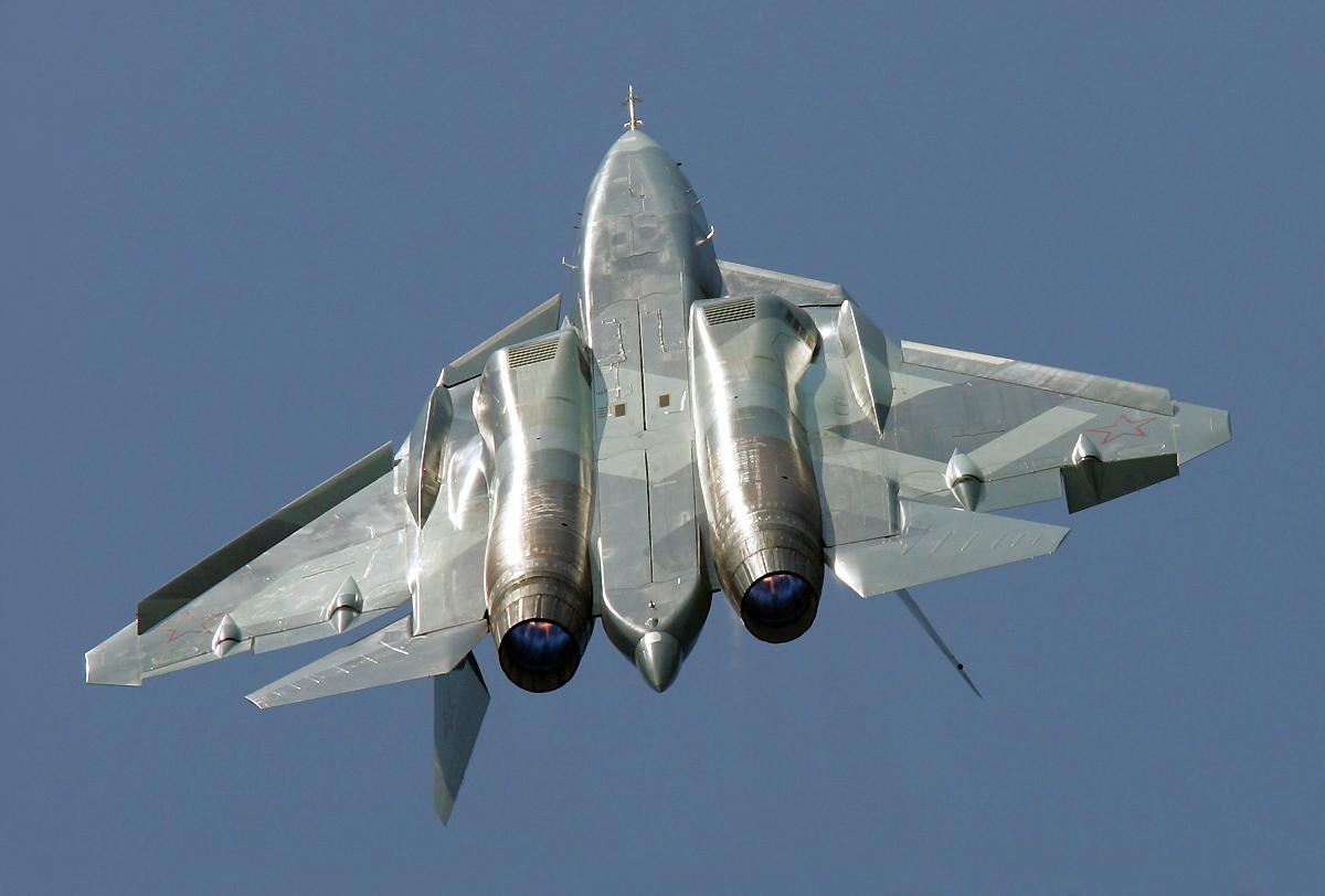 Самолёт КБ Павла Осиповича Сухого Т-50 ПАК ФА Выполнение фигуры высшего пилотажа Мёртвая петля