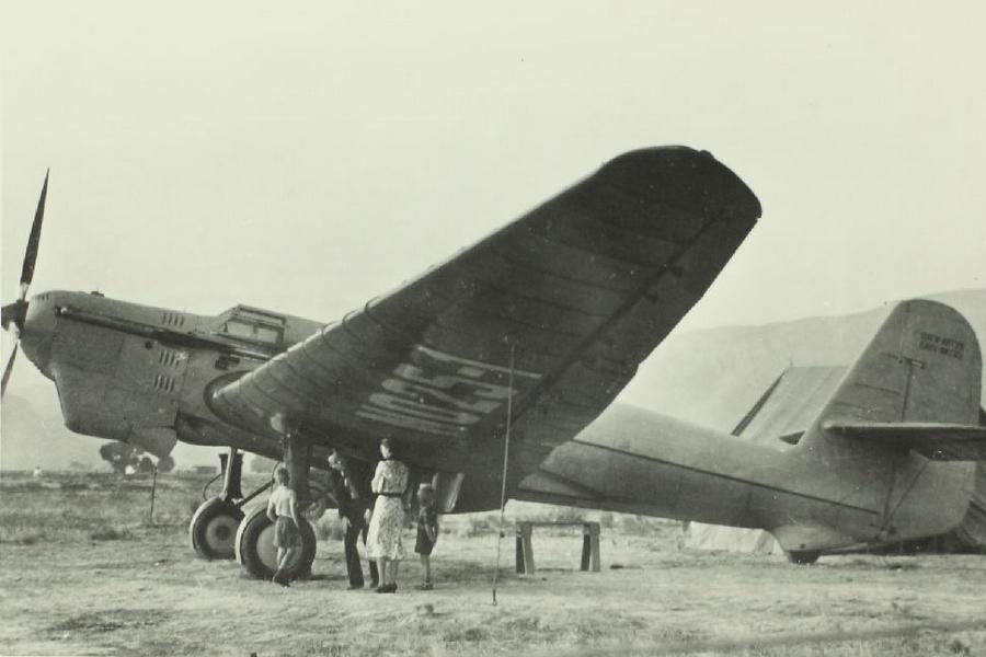 Самолёт экипажа Михаила Михайловича Громова АНТ-25 на котором были совершёны рекордные полёты