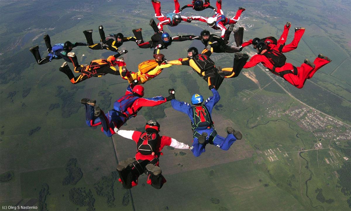 Вид парашютного спорта Большая формация