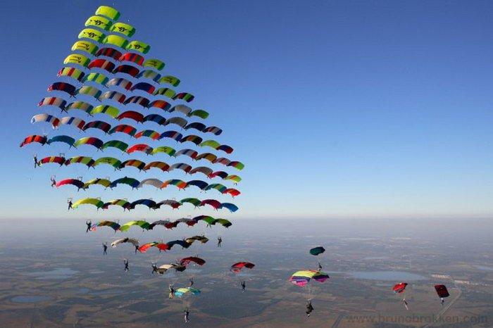 Вид парашютного спорта Купольная акробатика