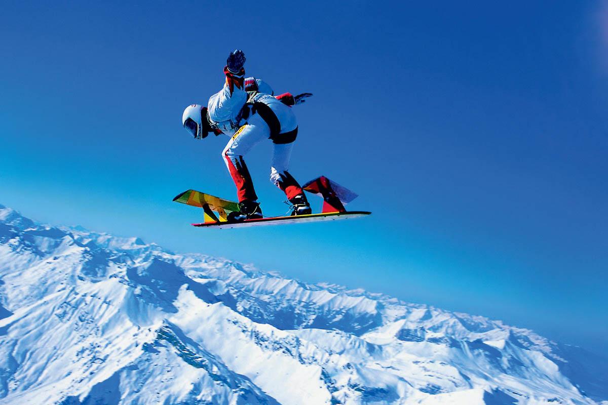 Вид парашютного спорта Скайсёрфинг