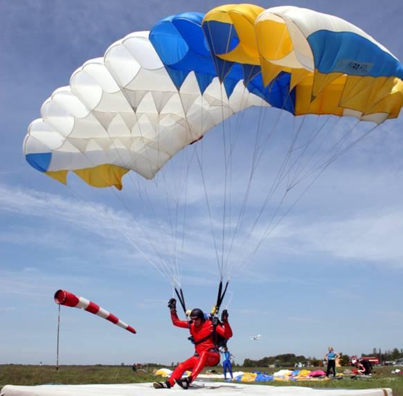 Вид парашютного спорта приземление на точность