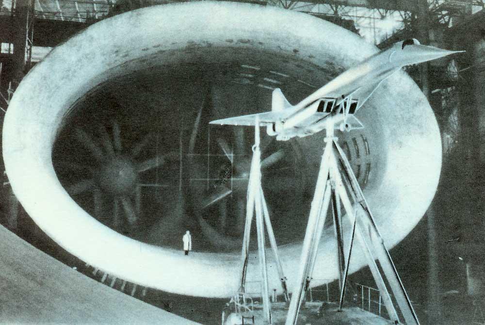 Современная аэродинамическая труба Продувка самолёта Ту-144