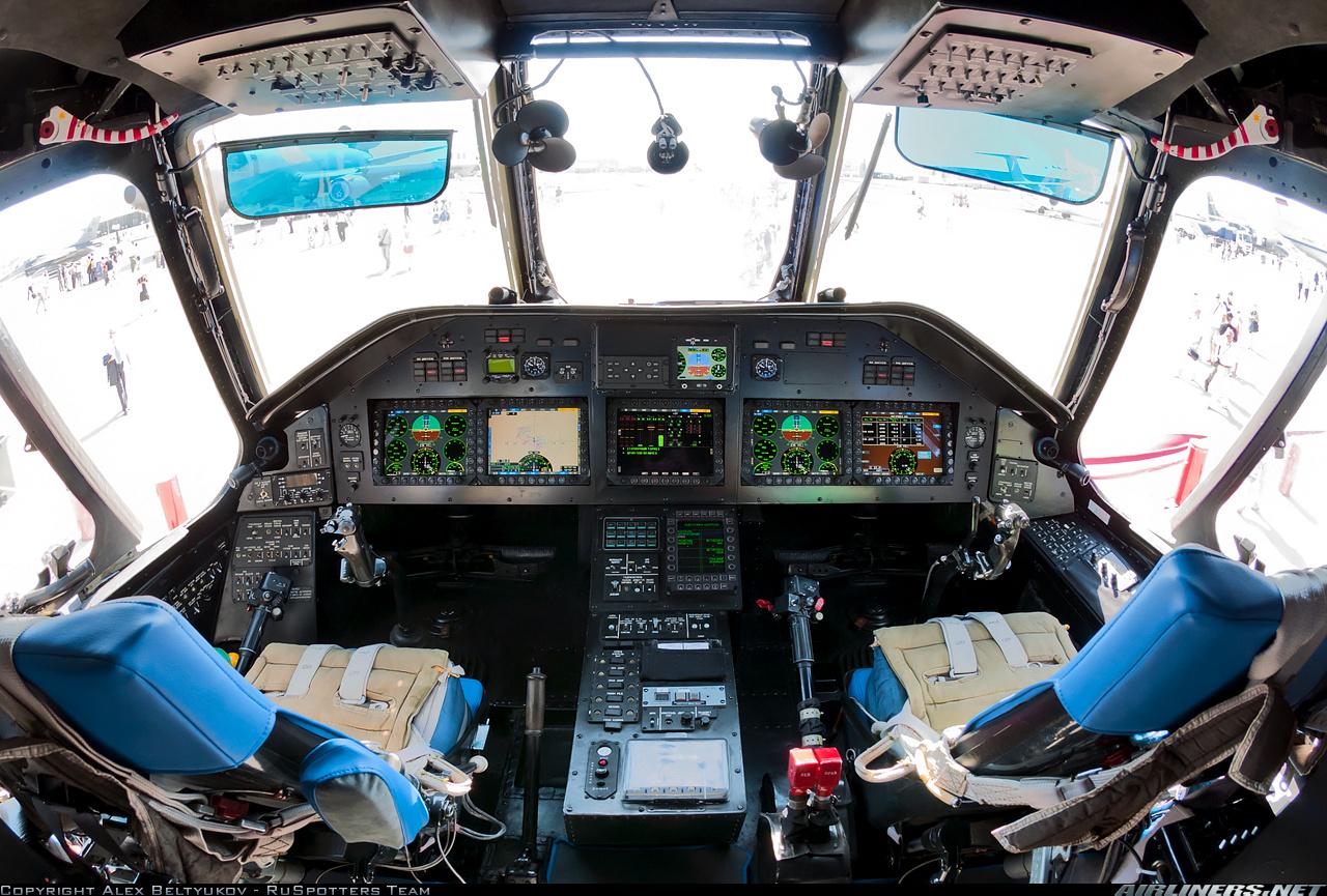 Кабина пилотов самого большого в мире СЕРИЙНОГО транспортного вертолёта Mи-26Т2 с НОВОЙ АВИОНИКОЙ великолепным обзором и отличной эргономикой