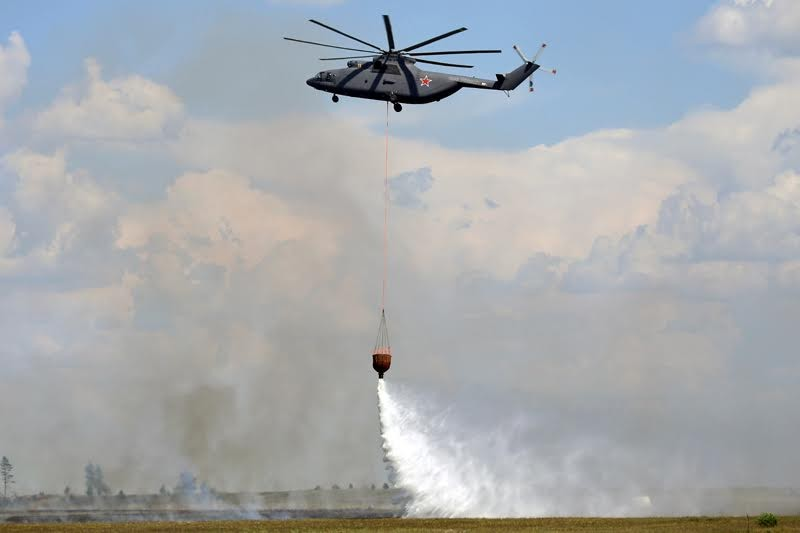 Противопожарный вариант самого большого в мире СЕРИЙНОГО транспортного вертолёта Mи-26