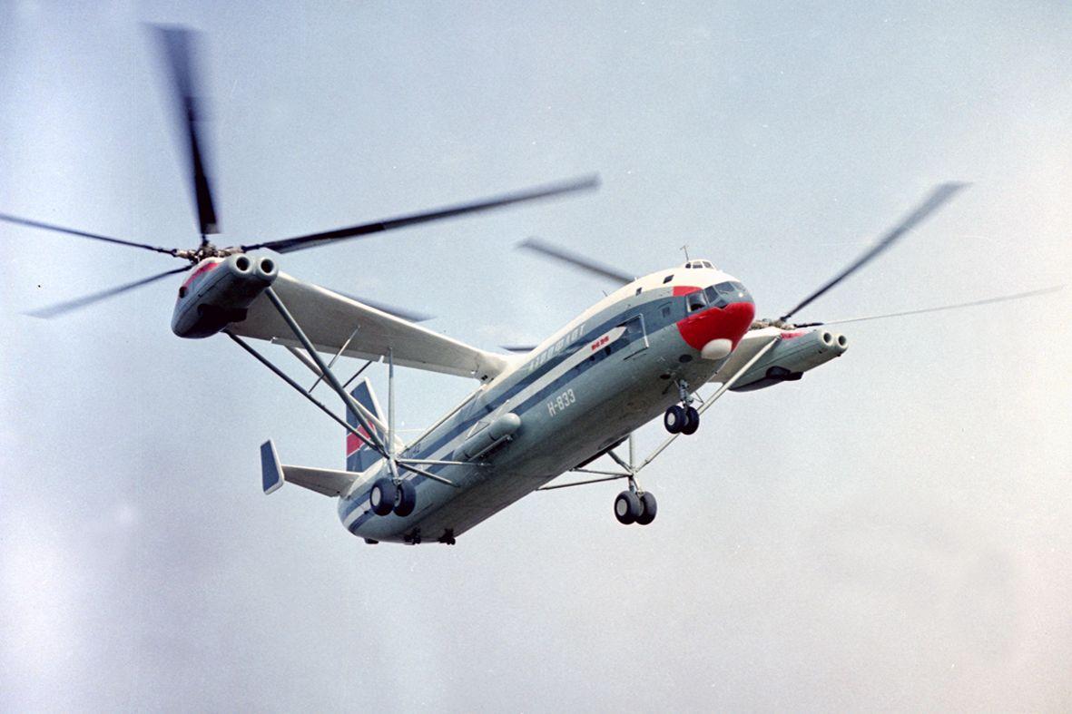 Самый большой в мире транспортный вертолёт КБ М.Л.Миля В-12