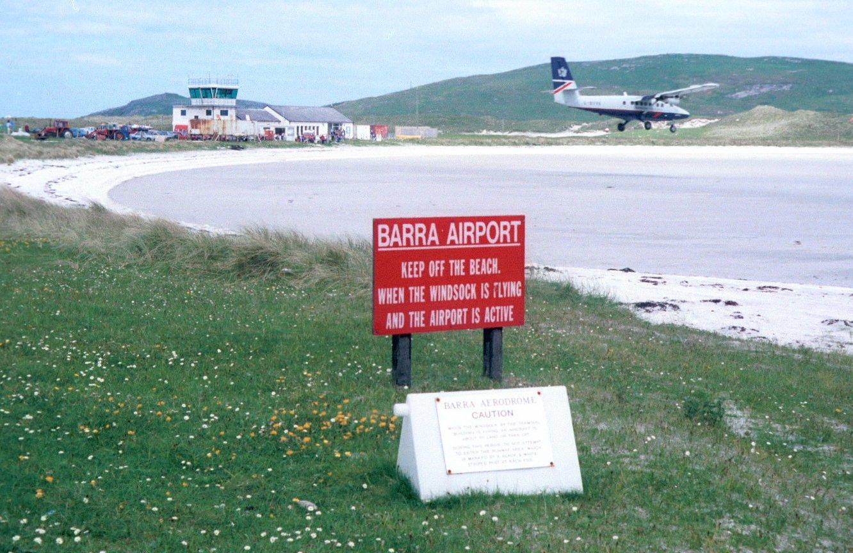 Аэропорт Барра (Barra) в Шотландии