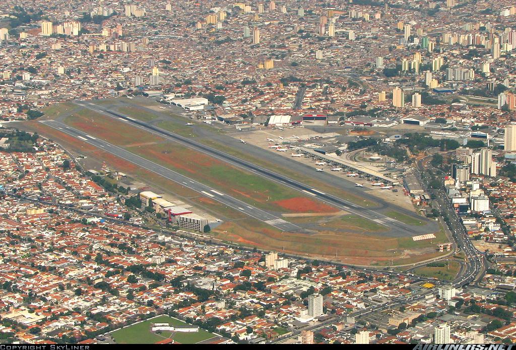 Аэропорт Конгоньяс (Сongonhas) в городе Сан-Паулу в Бразилии
