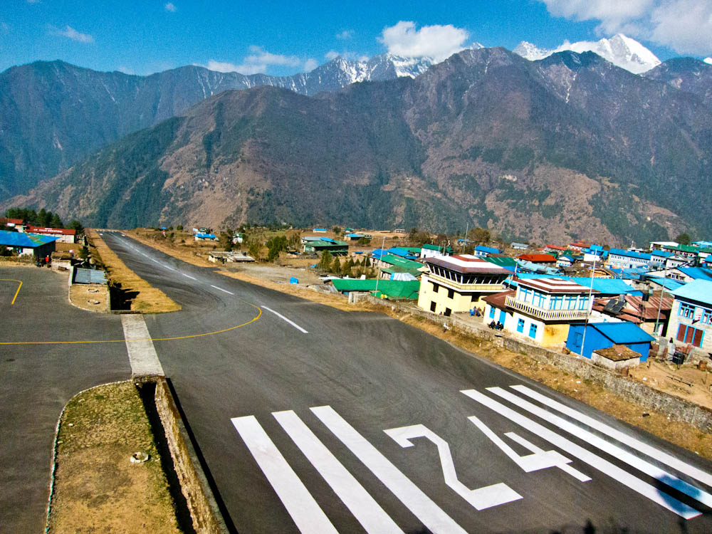 Аэропорт Лукла (Lukla) в Непале