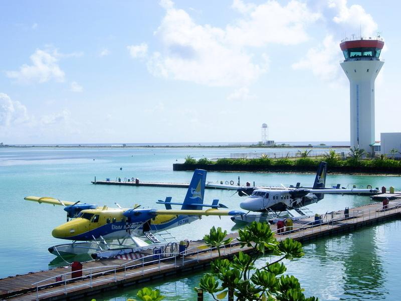 Аэропорт Мальдивских островов Мале Причал для гидросамолётов