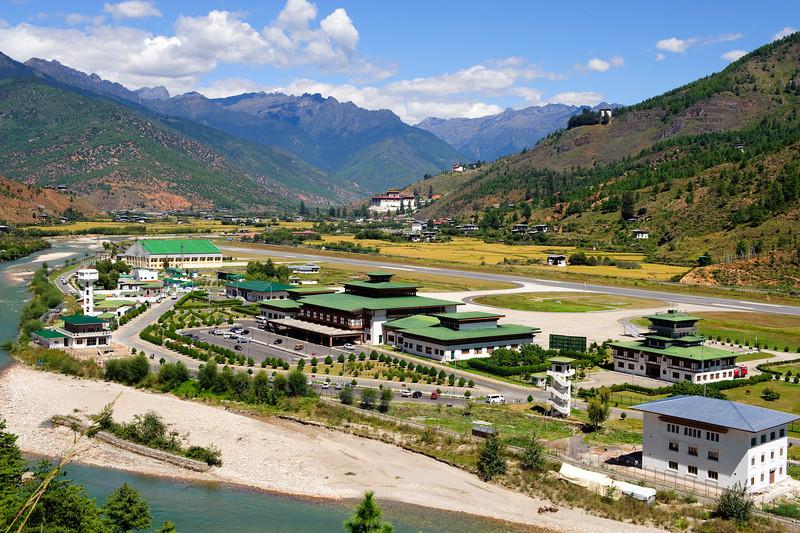 Аэропорт Паро в Бутане