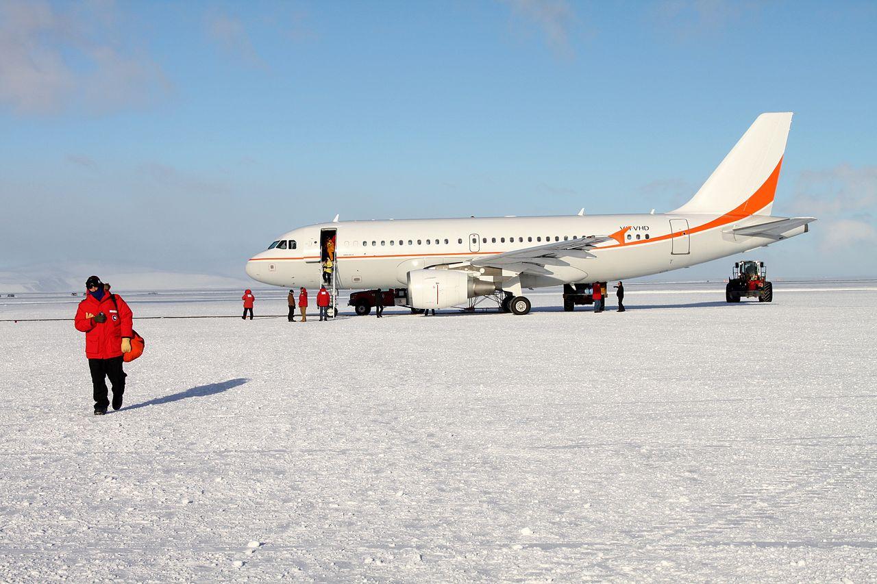 Аэропорт Поля Пегаса в Антарктиде Самолёт А-319