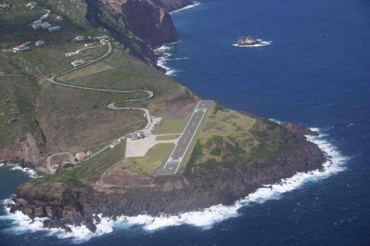 Аэропорт на острове Саба (Saba) Длина взлётной полосы менее 400 метров