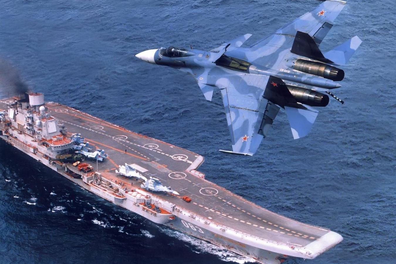 Авианосец адмирал Кузнецов со своим прямым предназначением