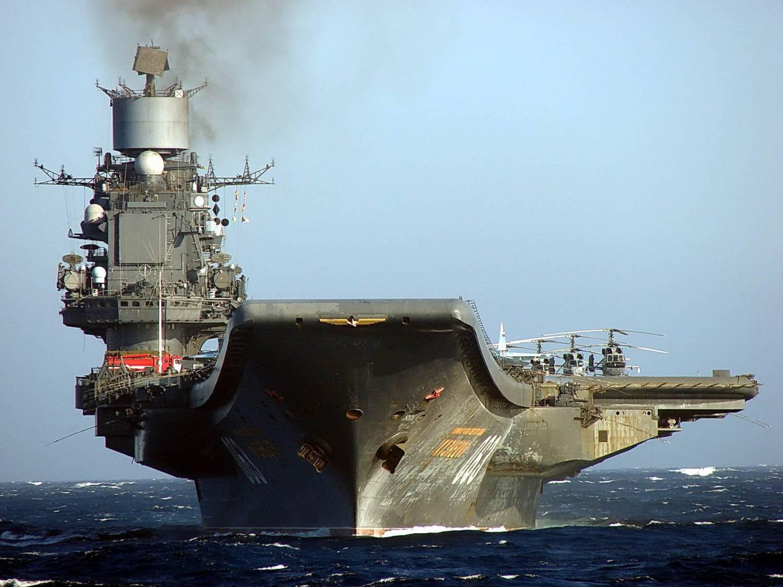 Авианосец адмирал Кузнецов в морском походе