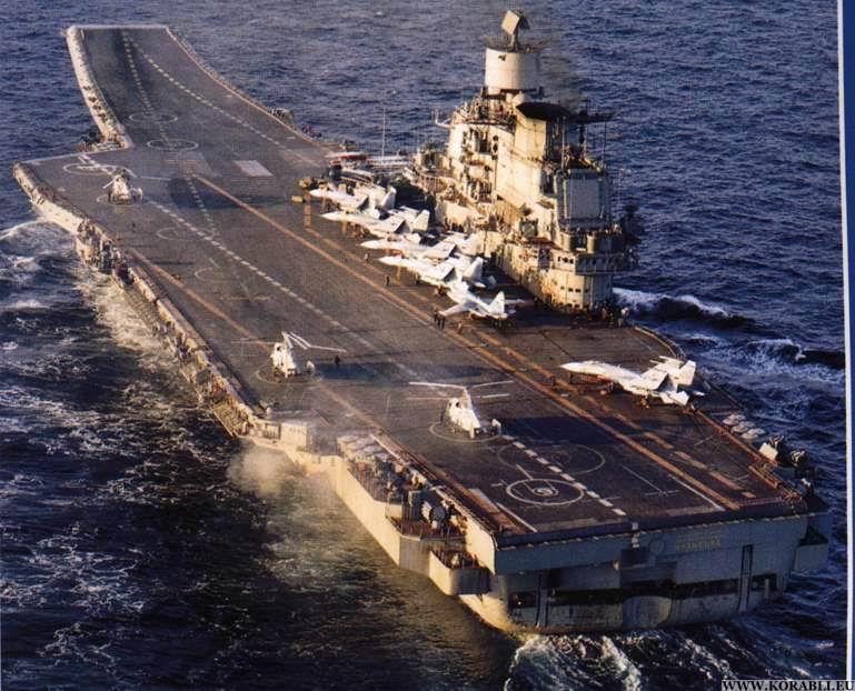 Авианосец адмирал Кузнецов в походе