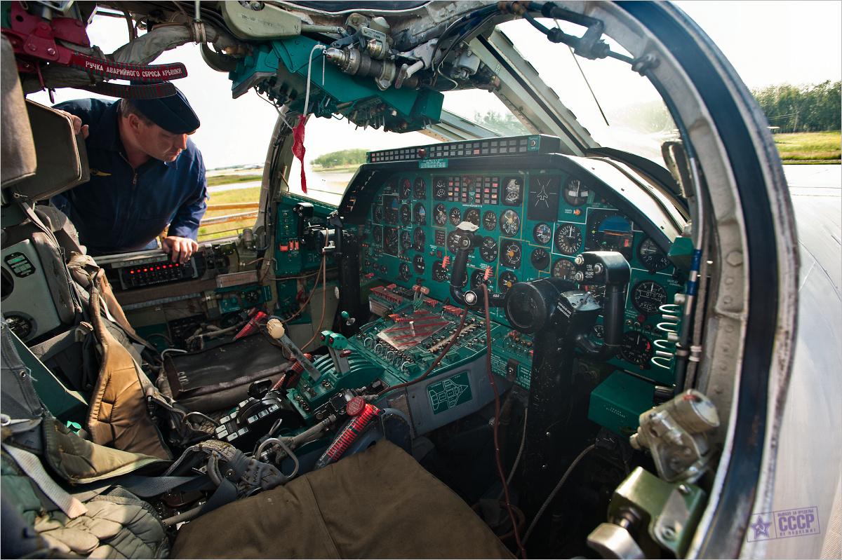 Ту-22М3 Кабина пилотов вид сбоку