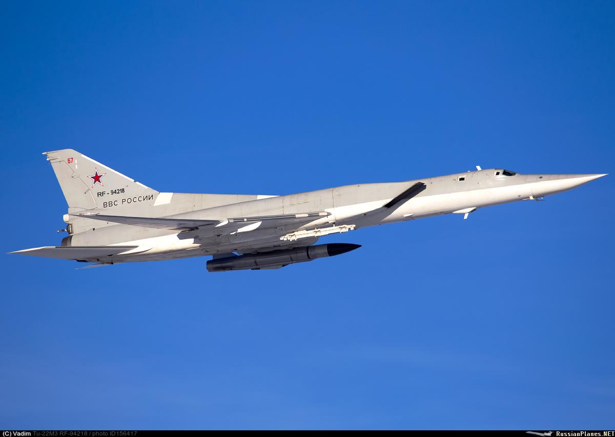Ту-22М3 с крылатой ракетой Х-22