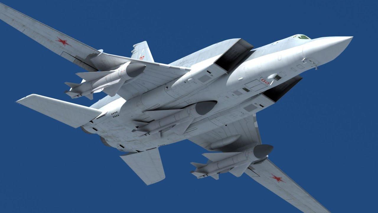 Ту-22М3 с тремя крылатыми ракетами Х-22